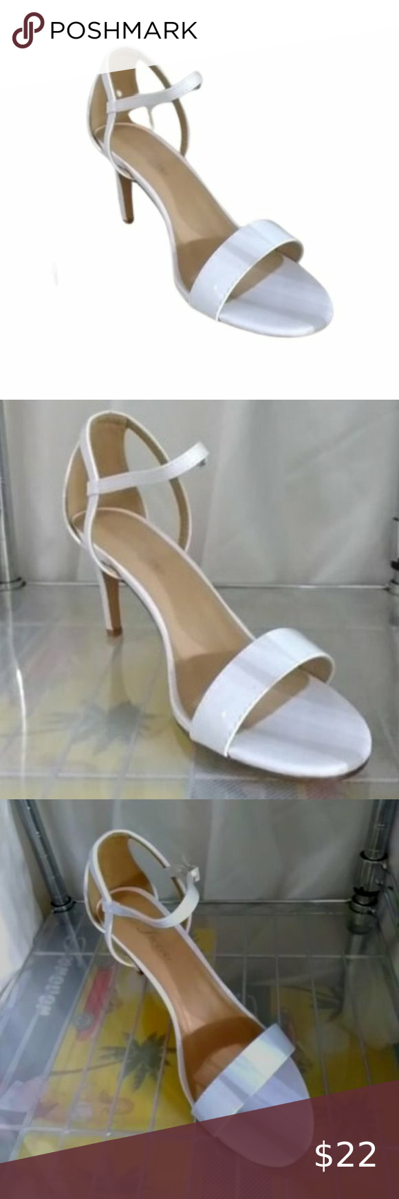 Bogo Free White Faux Leather Kitten Heel Boutique Item New In Boxes White Faux Patent Leather Upper Adjusta In 2020 White Faux Leather Forever Link Shoes Kitten Heels