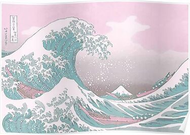 Pastel The Great Wave off Kanagawa Poster