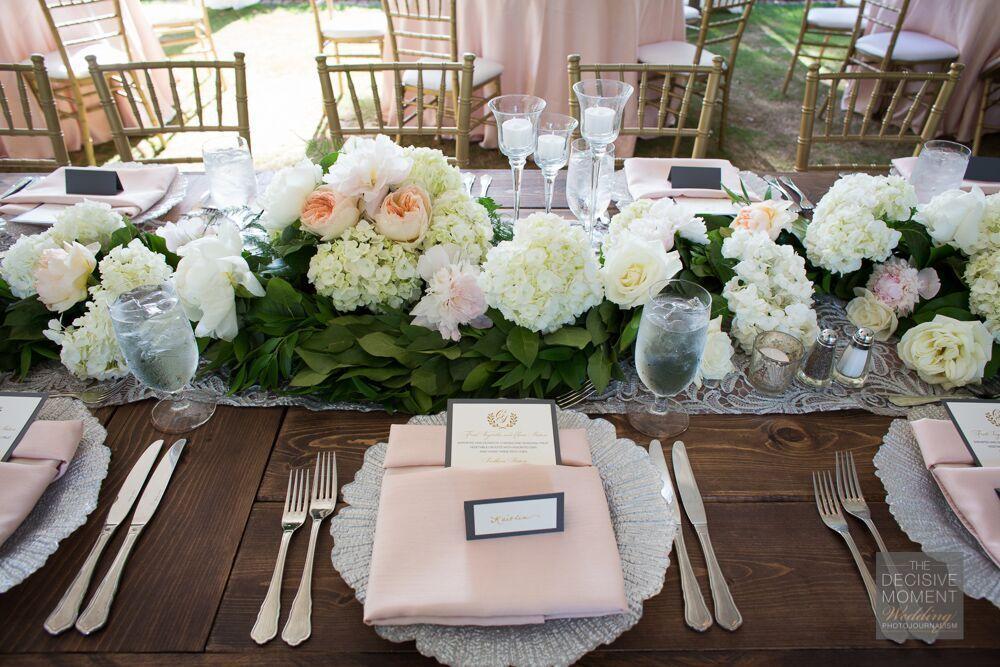 http://welovebrides.com/ #BarnsleyGardens #wedding #florals #decor #aislerunner #placesetting #reception #centerpiece