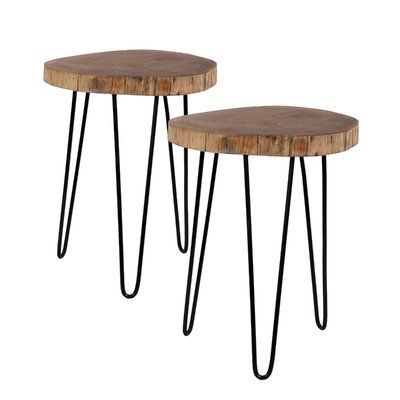 Tremendous Foundry Select Decaro Acacia Accent Log End Table Products Squirreltailoven Fun Painted Chair Ideas Images Squirreltailovenorg