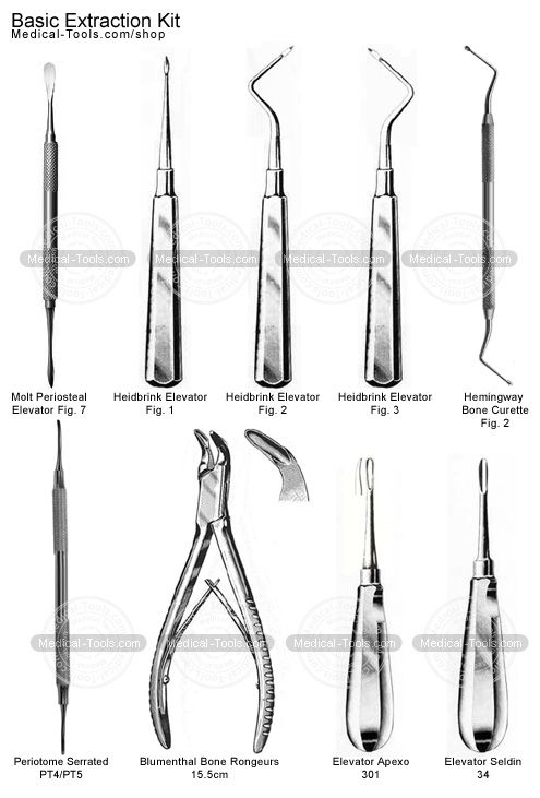 Basic Extraction Kit Dental Extraction Dental Hygenist Dental Tools