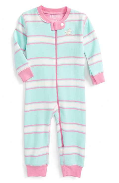 3c14af42d Hatley Pastel Stripe Fitted One-Piece Organic Cotton Pajamas (Baby ...