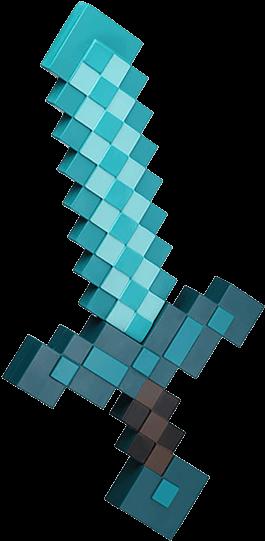 View Full Hd Diamond Sword Foam Replica Minecraft Diamond Sword Hd Png Download And Find More Transparent Png Minecraft Diamond Sword Minecraft Sword Sword