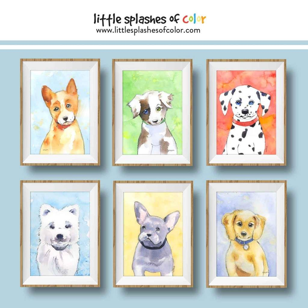 Black And White Dog Wall Art Puppy