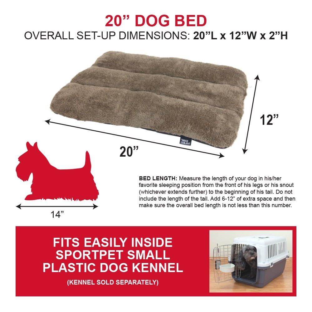 Sportpet Designs Waterproof Pet Bed With Non Skid Bottom Fits Sportpet Plastic Dog Kennel Details Can Be Foun Plastic Dog Kennels Dog Bed