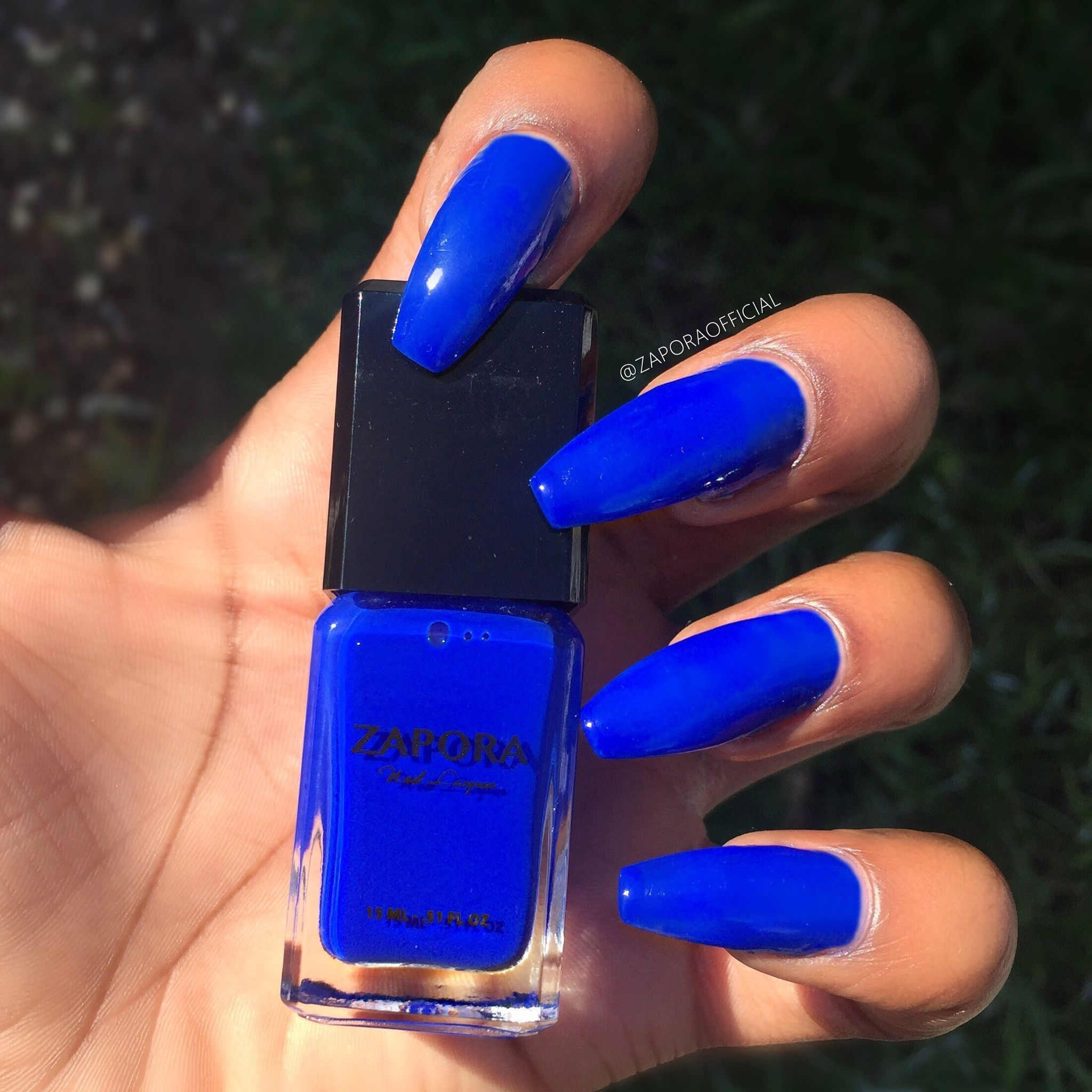 Blue Story Zapora Nail Lacquer In 2020 Blue Acrylic Nails Royal Blue Nails Long Acrylic Nails