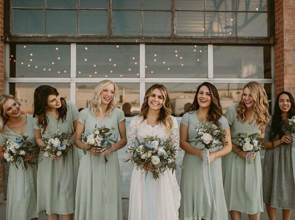Modest Wedding Dresses -   17 sage green bridesmaid dresses modest ideas