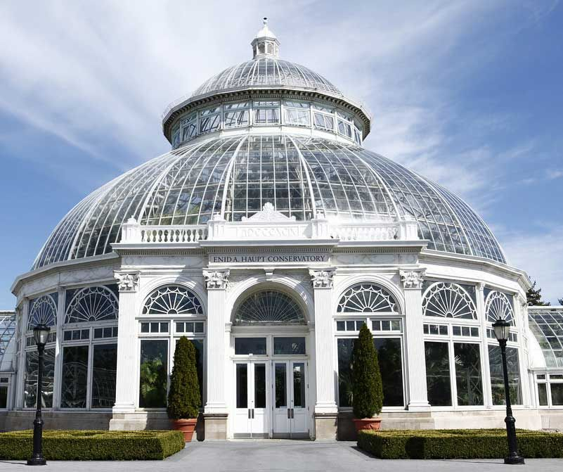 Enid A. Haupt Conservatory at the The New York Botanical Garden in the Bronx was opened to the public in 1902.