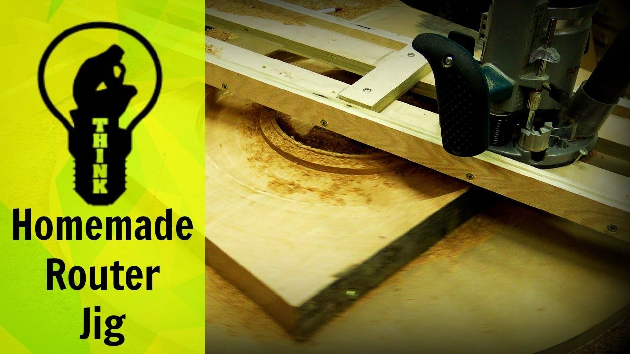 Homemade router table top  Homemade router jig bench top turn table  wood projects