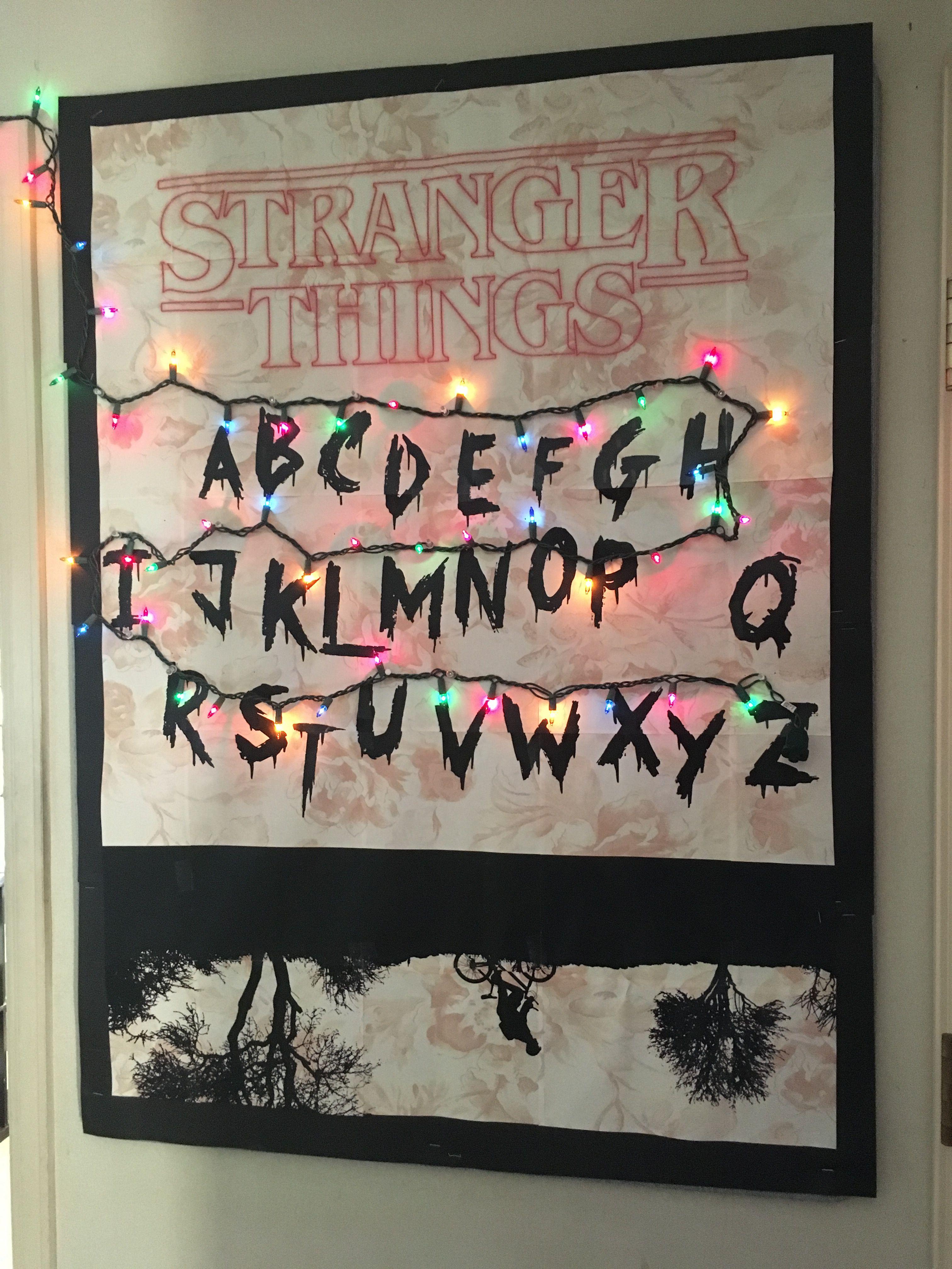 Stranger Things Bulletin Board Stranger Things Halloween Halloween Bulletin Boards Stranger Things