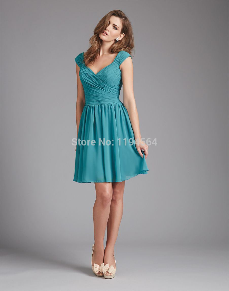 Click image to buy!] Short Bridesmaid Dresses for Beach Wedding ...