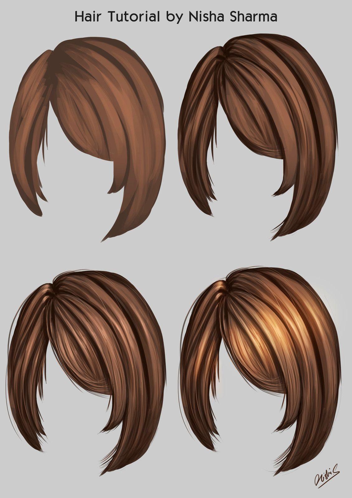 Hair Rendering Tutorial Nisha Sharma Digital Painting Tutorials Drawing Hair Tutorial Digital Art Tutorial