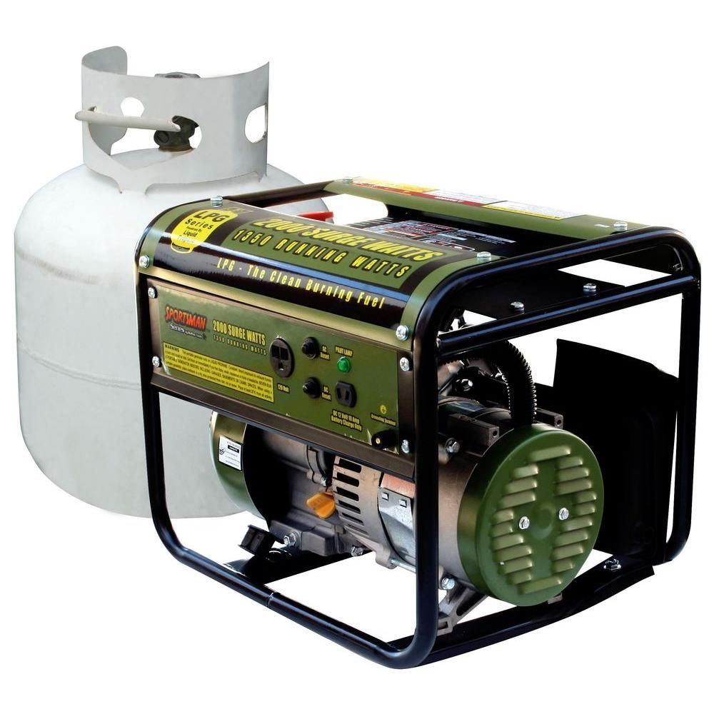 2 000 watt clean burning lpg propane gas powered portable - Is it bad to run a generator out of gas ...