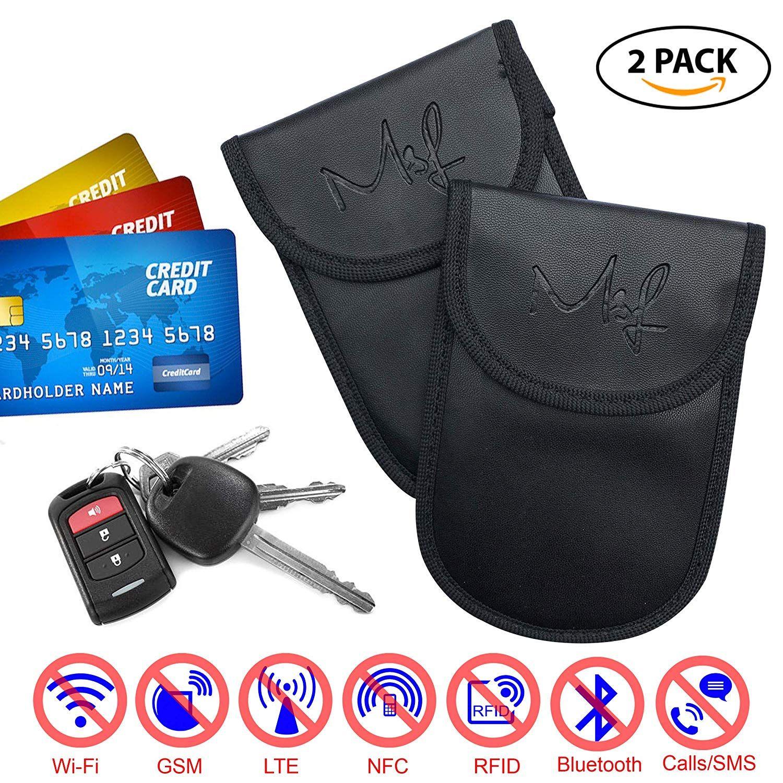 2 x car key signal blocker case keyless entry fob amazon