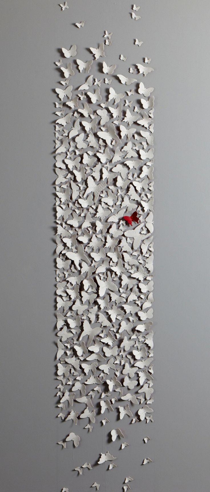 Mit Porzellan Oder Salzteig Oder Ähnliches An Der Wand Gestalten