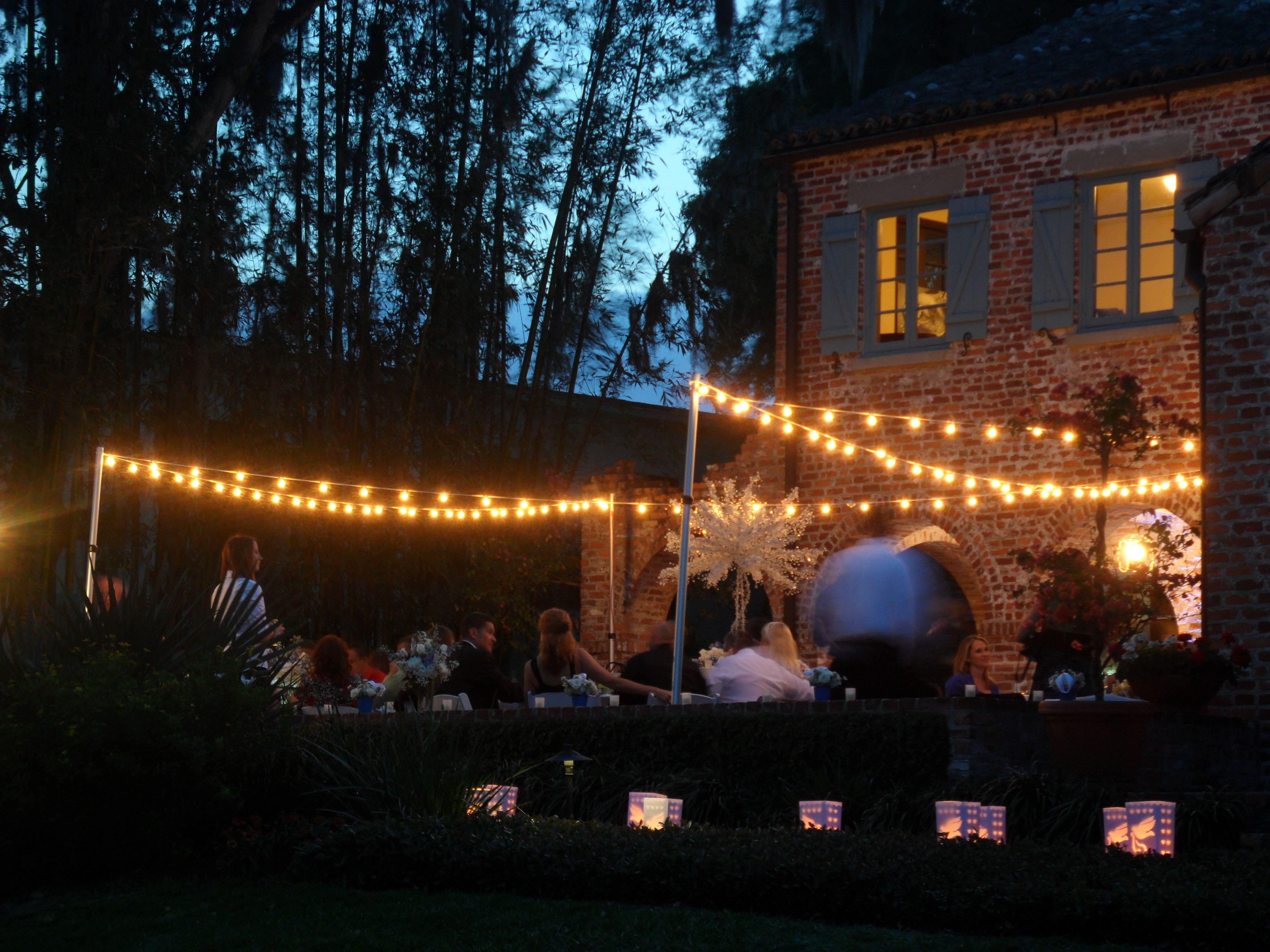 Market Lighting Casa Feliz Wedding Winter Park Florida Orlando Dj And