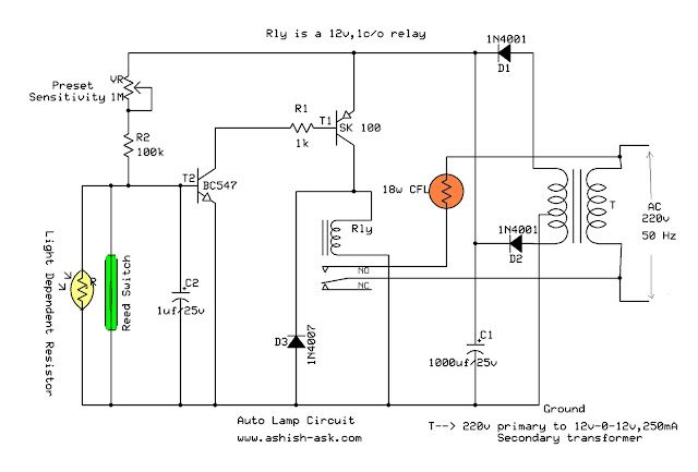 Automatic Bathroom Light Circuit