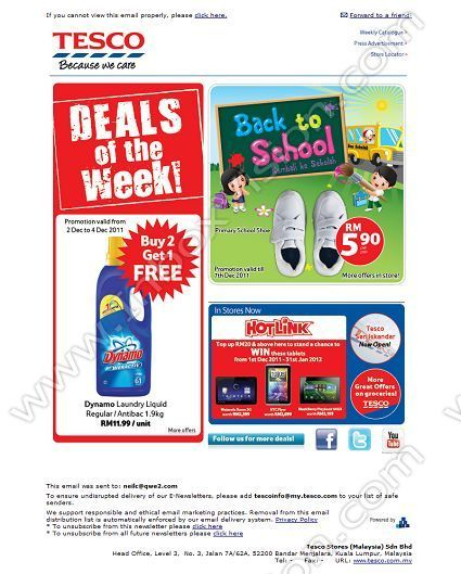 Company Tesco Malaysia Subject Tesco Back To School Deals In