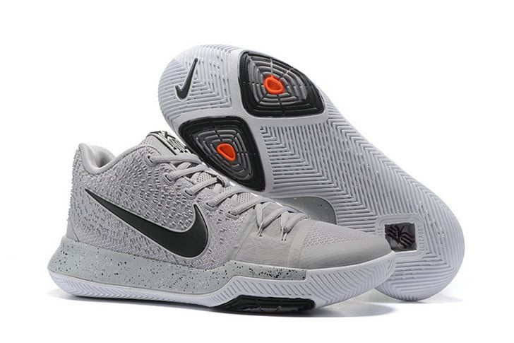 Free Shipping Only 69 Nike Kyrie 3 Cool Grey Wolf Grey Black Orange
