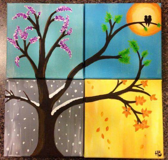 Discover Ideas About Four Seasons Painting
