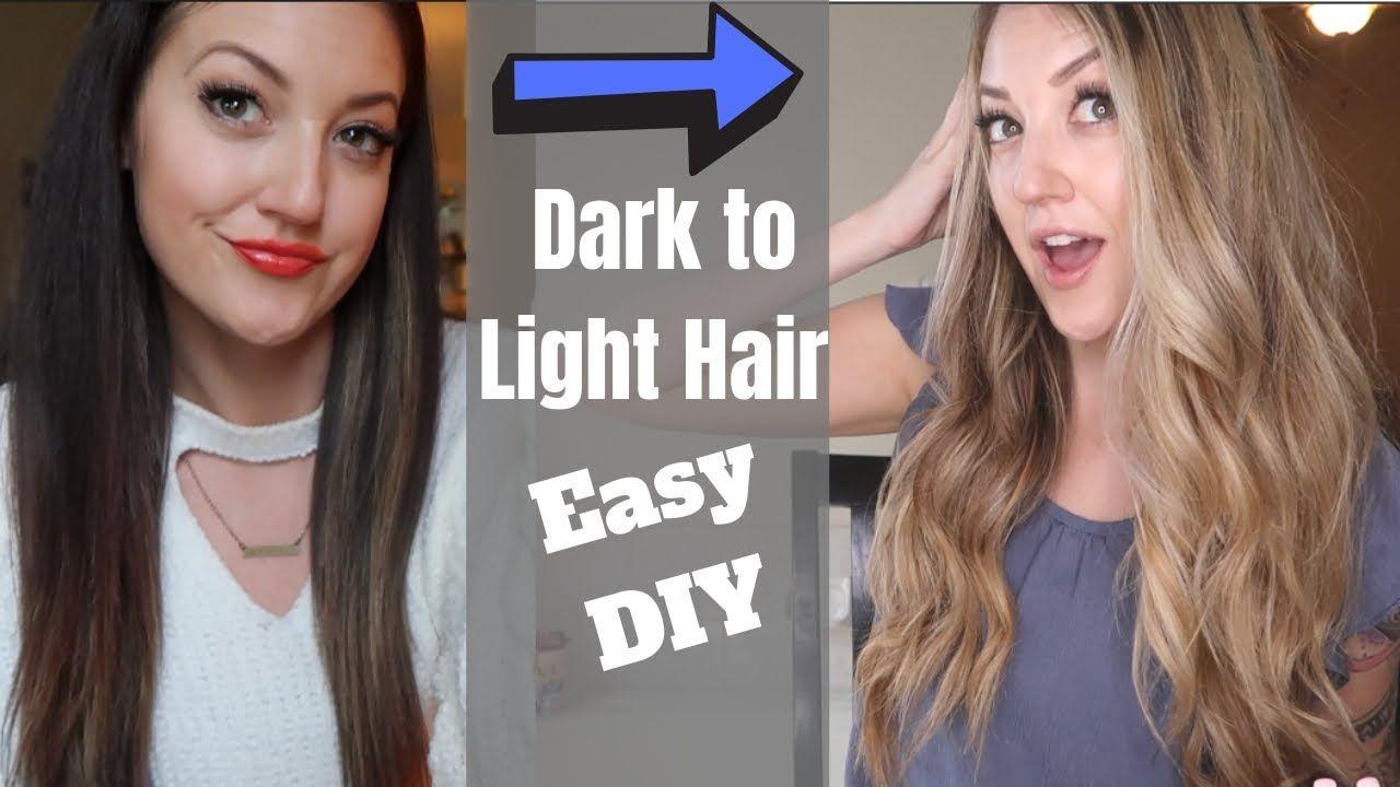 Diy Dark Hair To Blonde Hair How To Get Blonde Hair Without Damage At Home Hair Lightening Yo Lightening Dark Hair How To Lighten Hair Dark To Light Hair