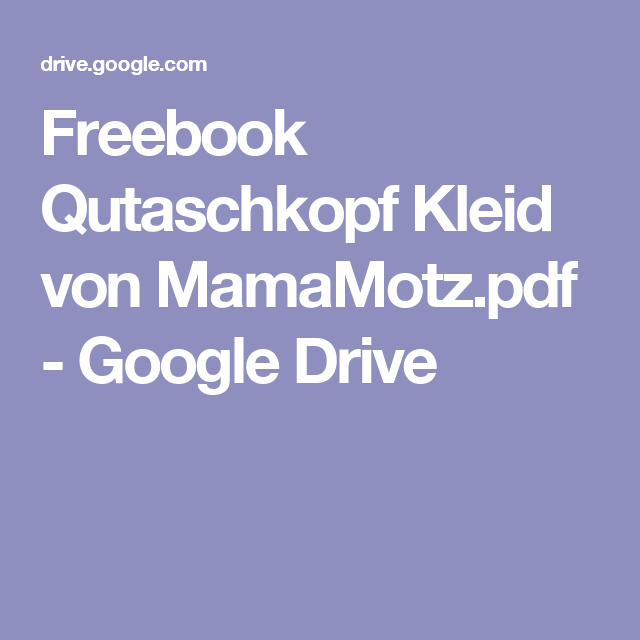 freebook qutaschkopf kleid von google drive schnittmuster. Black Bedroom Furniture Sets. Home Design Ideas