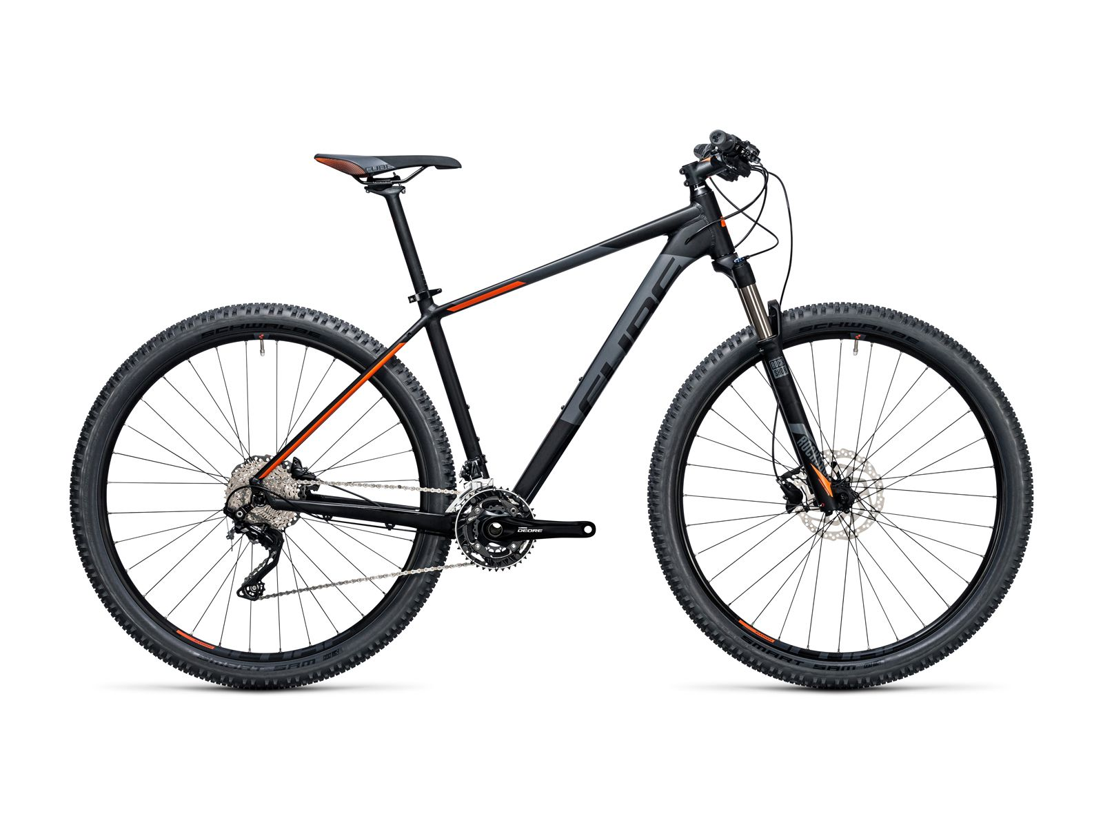 Cube Attention SL 29 2017, black´n´flashorange - Mountainbike