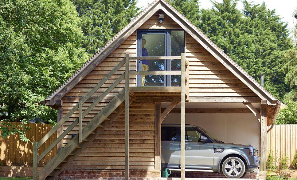 Oak Framed Garage With Oak House Garage Pinterest