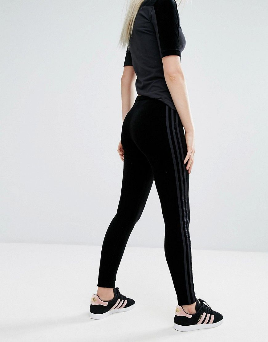 0c63b3333663a adidas Originals Velvet Vibes Leggings In Black - Black | Outfits 2 ...