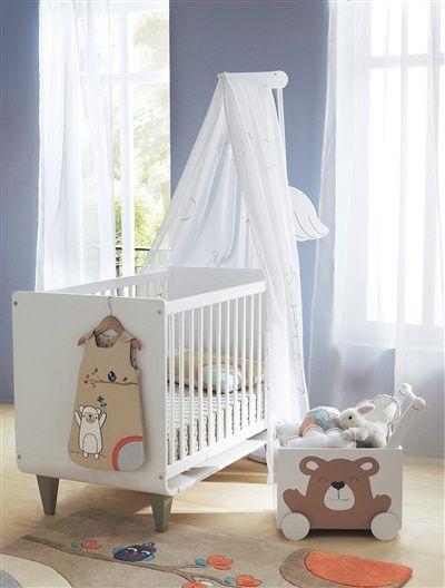 Flèche de lit cigogne bébé BLANC - vertbaudet enfant | Lettre au ...