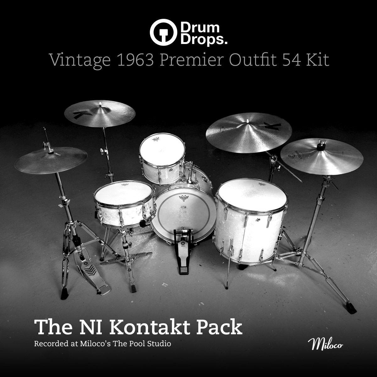The Premier Outfits 54 Kit Ki Kontakt 5 Sample Pack Http Drumdrops Com Drum Samples 1963 Premier Outfit 54 Drum Kit Page The Packs The Drums Kit Drum Kits