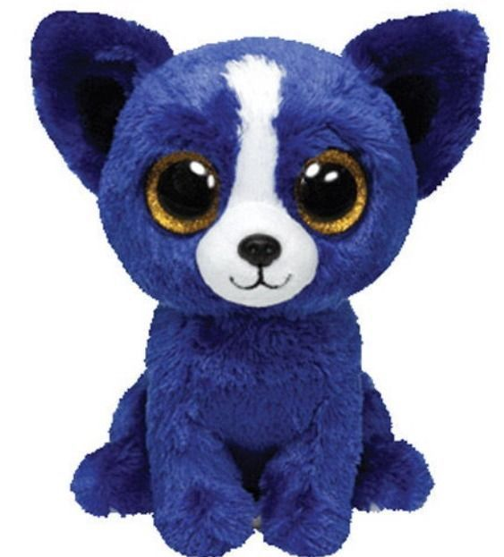 TY Beanie Boos - LIMITED EDITION T-Bone Plush Blue Dog Toy Show Exclusive 3f39c5bd461d