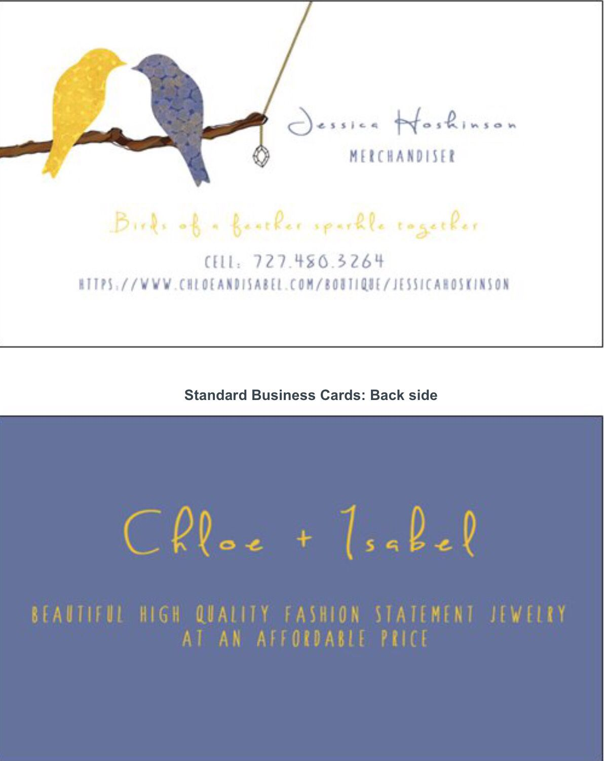 Chloe And Isabel Business Cards