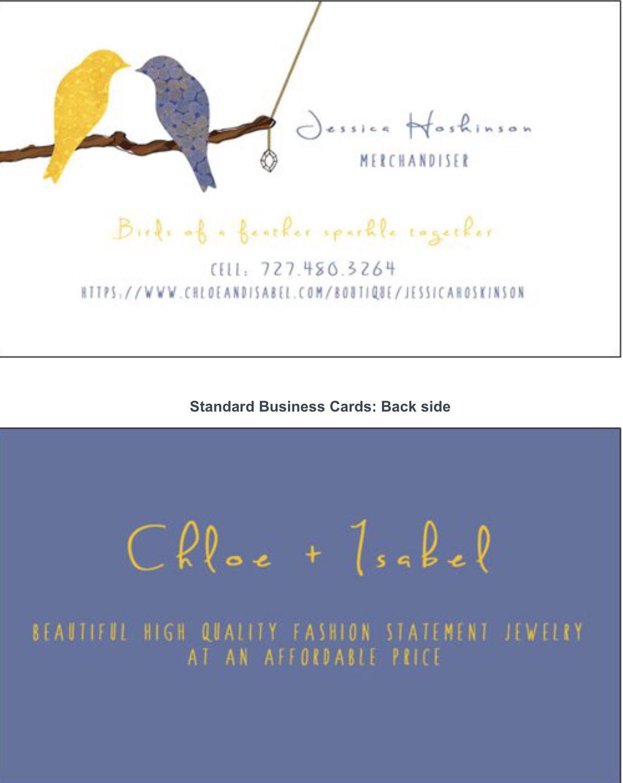 Chloe isabel business cards birds design fashion jewelry chloe isabel business cards birds design fashion jewelry colourmoves