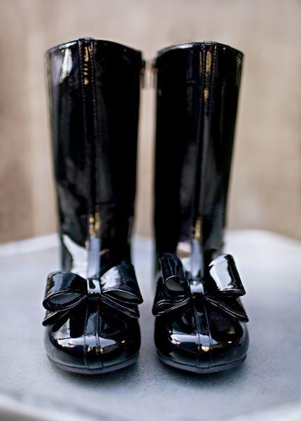 Joyfolie boots   Black patent boots