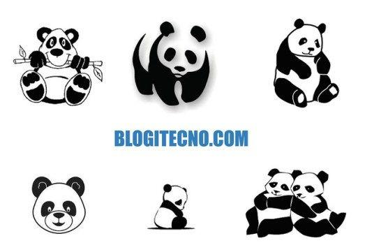 Dibujos Tiernos de Osos Panda para Colorear e Imprimir | Libros de ...