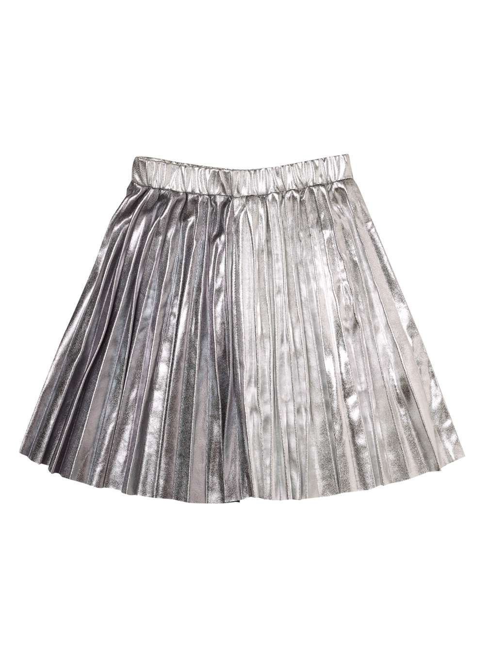 14fc536e1 Girls Silver Pleated Skirt (18 months - 6 years)