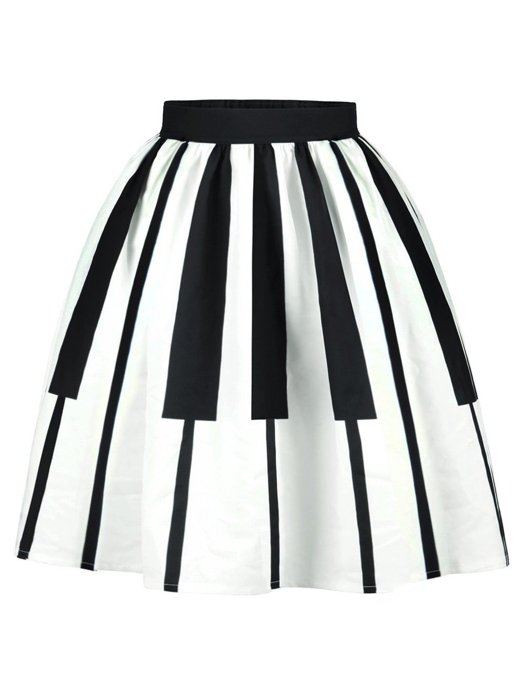 42ed1cd4d Two Tone High Waist Striped Skirt   You Better Work B!tch !   Midi ...