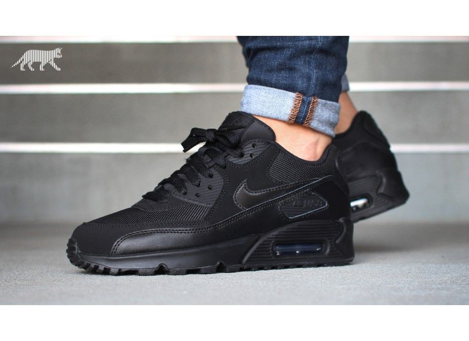 the latest 4319b 5f19d Home   Nike Air Max 90 (GS) (Black   Black)