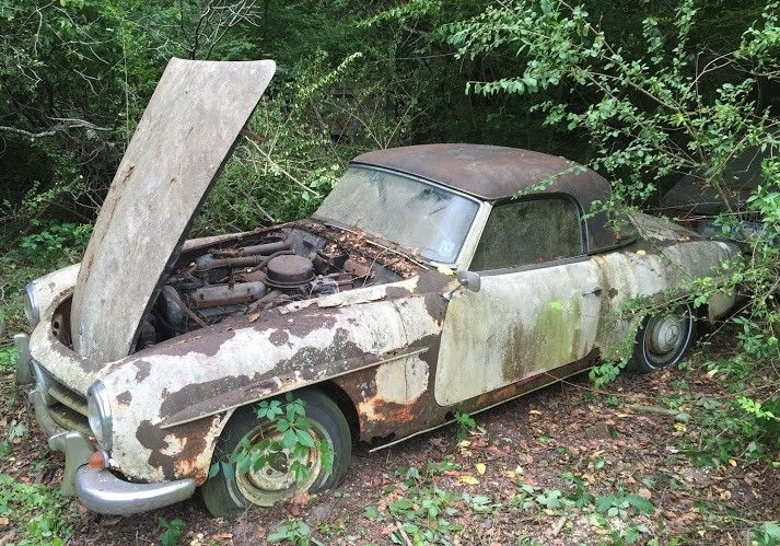 1962 mercedes 190sl parked and forgotten barn finds pinterest voiture casse auto et. Black Bedroom Furniture Sets. Home Design Ideas