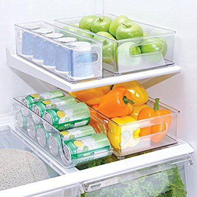 Interdesign 4 Piece Fridge and Freezer Storage Bins Future Kitchen