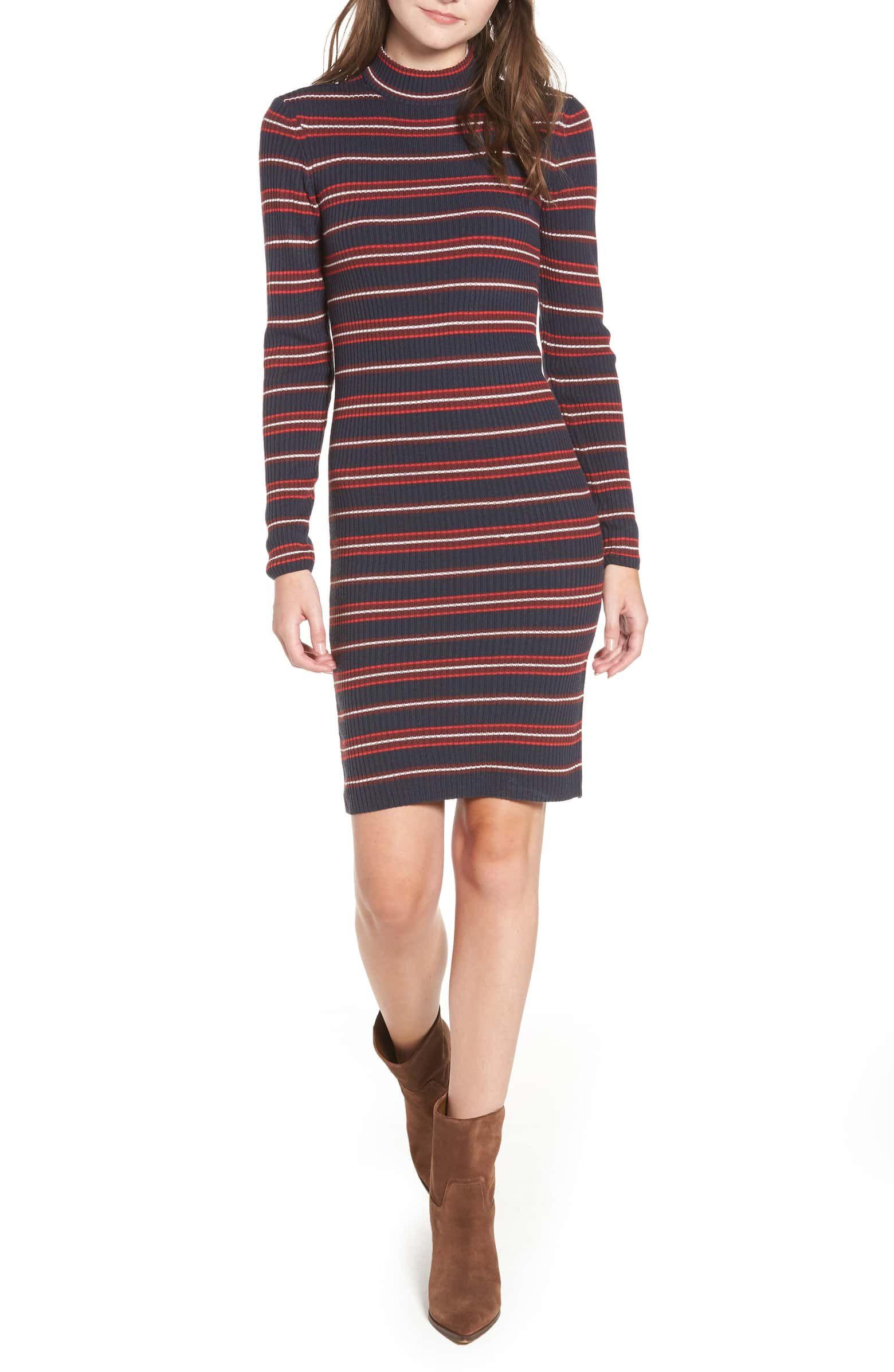 8bde1d7bb39 Myra Stripe Rib Sweater Dress