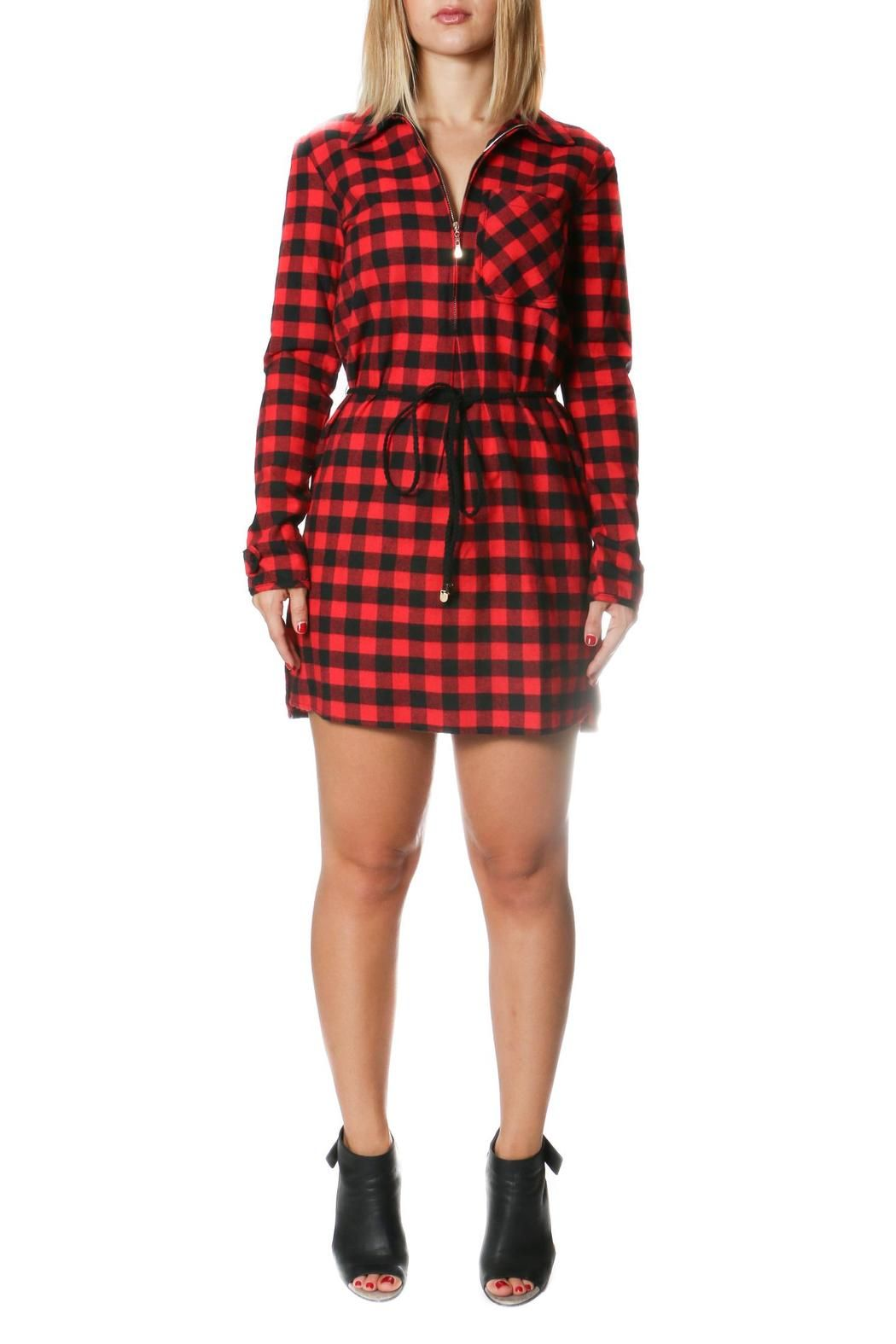 One story red flannel dress shoptiques boutique products