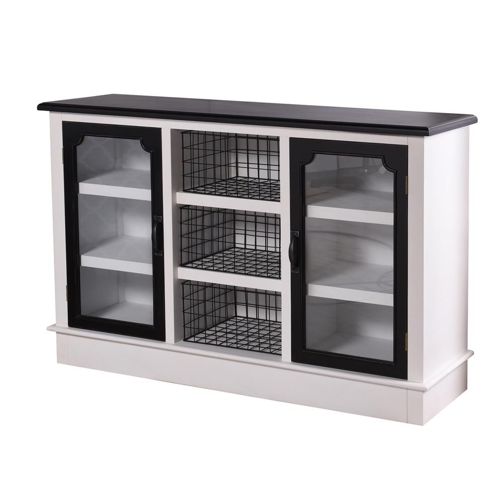 Stylecraft Church St White And Black 2 Door With Shelf And Open