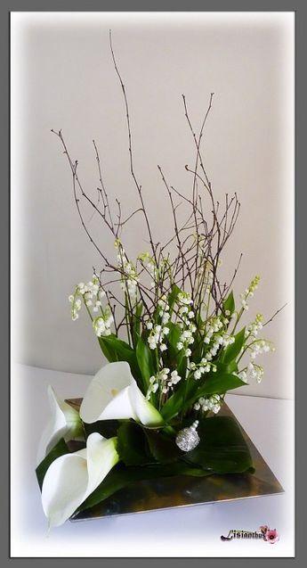 art floral bouquet cr ations florales de lisianthus pinterest muguet deco fleur et fleur. Black Bedroom Furniture Sets. Home Design Ideas