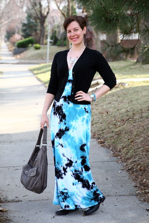 Cardigan, maxi dress, ankle boots, bib necklace | My Style - Looks ...