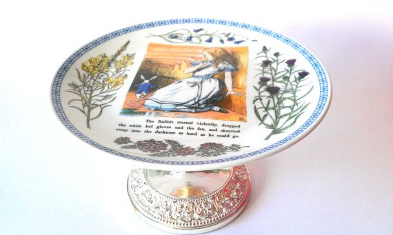 SOLD - Alice In Wonderland and the White Rabbit by TheVintageCakeStand, £30.00
