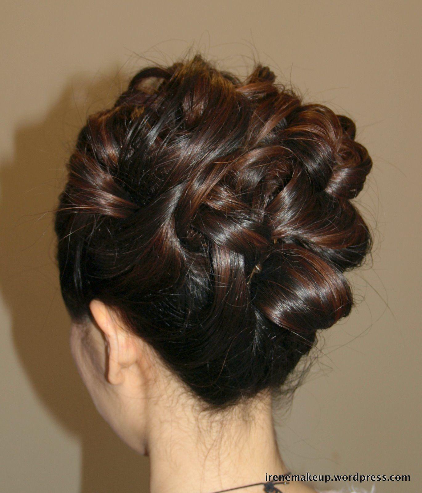 chinese bridal hairstyles- classic sleek updo 新娘盘头发型