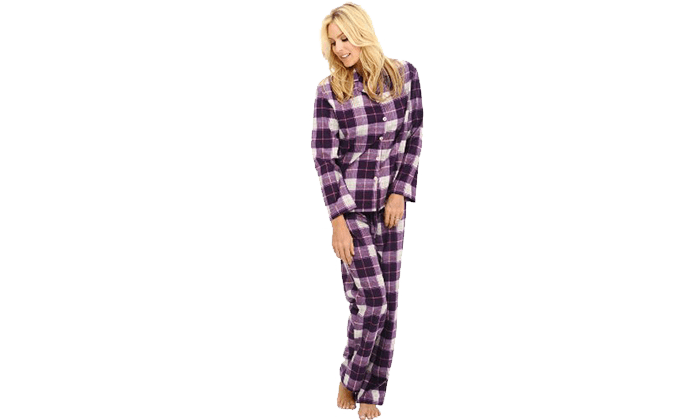 Best Flannel Pajamas for Women: Del Rossa Flannel PJ Set | Fashion ...