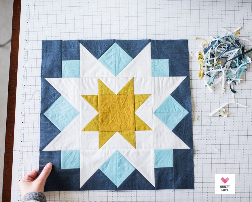 Night Stars Quilt - A bold star quilt pattern - Quilty Love